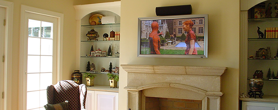 Home audio and Video Services in Matthews, NC.  TV installation, Surround Sound, Home Entertainment Systems